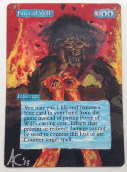 MtG Force of Will acrylic extension alter