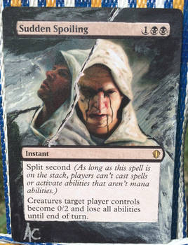 MtG Sudden Spoiling acrylic extension alter