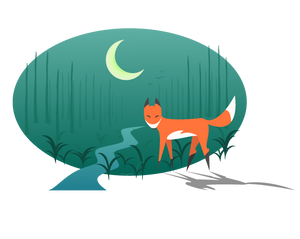Where the fox goes at night?