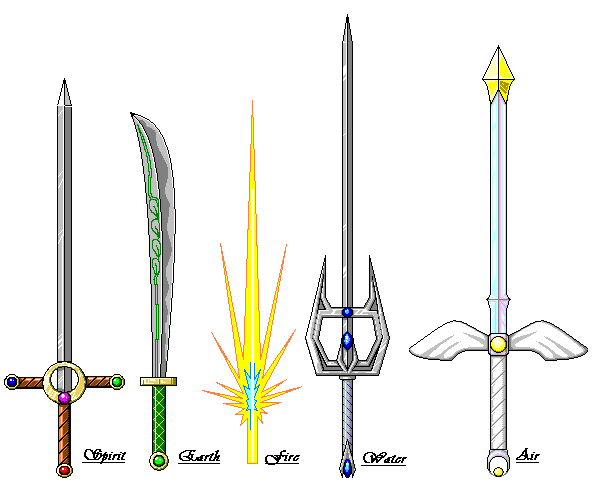 Pixel Elemental Swords By Kir On DeviantART
