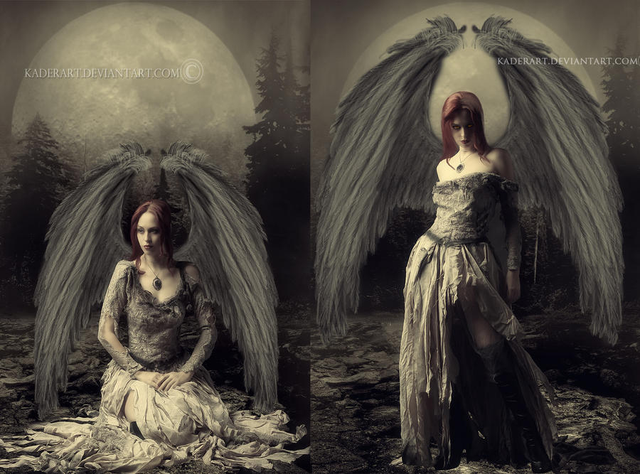 Jessica Angel And Devil by kaderart