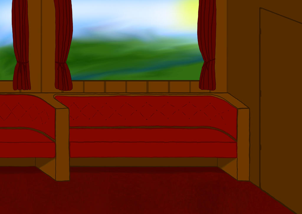 Train Interior by voidfarmer
