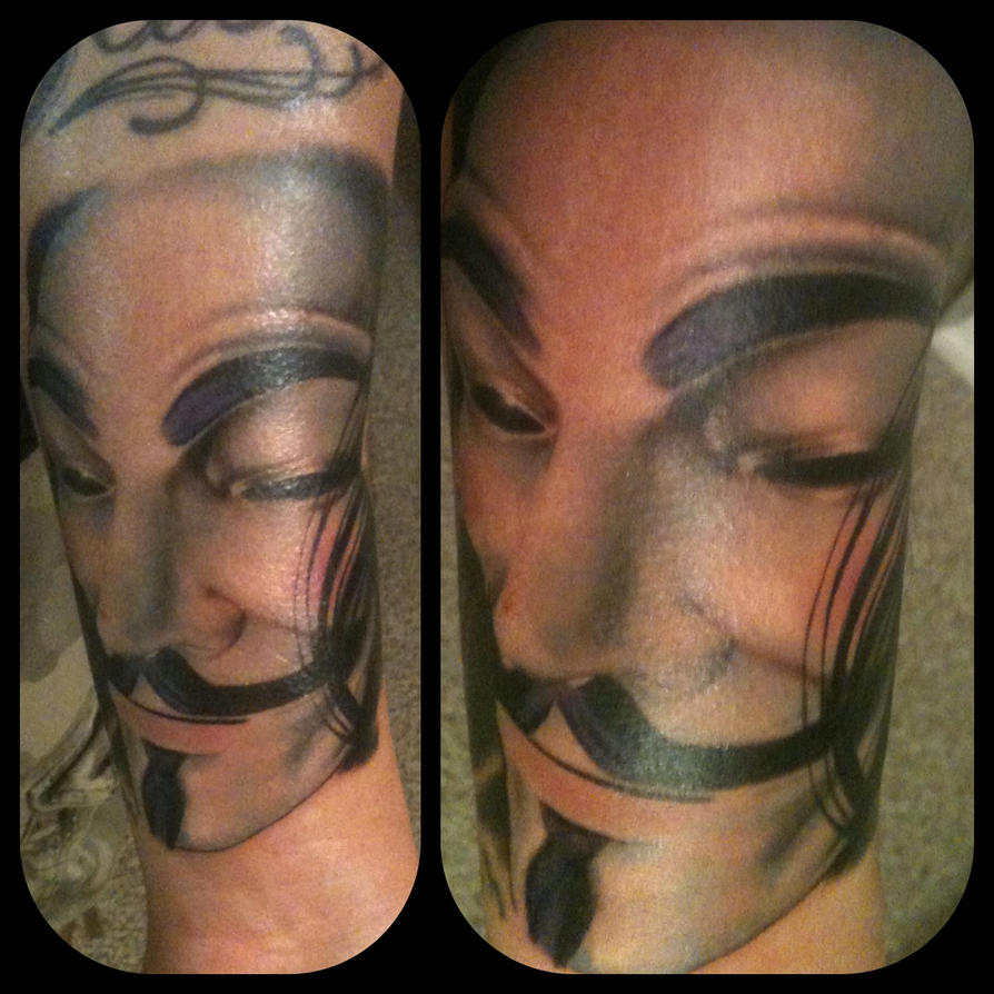 V for Vendetta Tattoo by His-Highness-High
