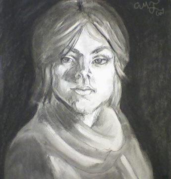 Charcoal Self Portrait Final by AM-Nyeht