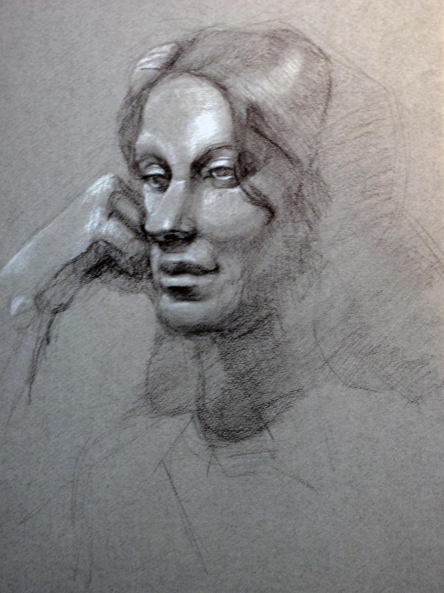 Tone Paper Portrait by AM-Nyeht