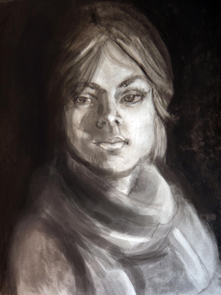 Old Self Portrait by AM-Nyeht