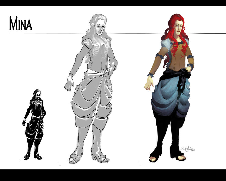 Mina: Character Steps by AM-Nyeht