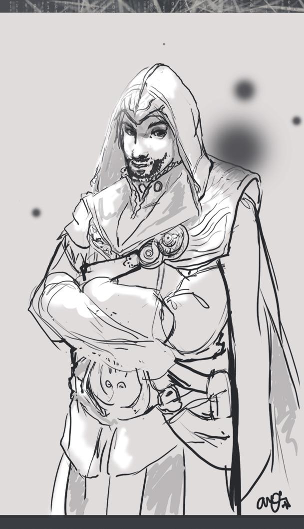 Ezio Auditore Sketch by AM-Nyeht