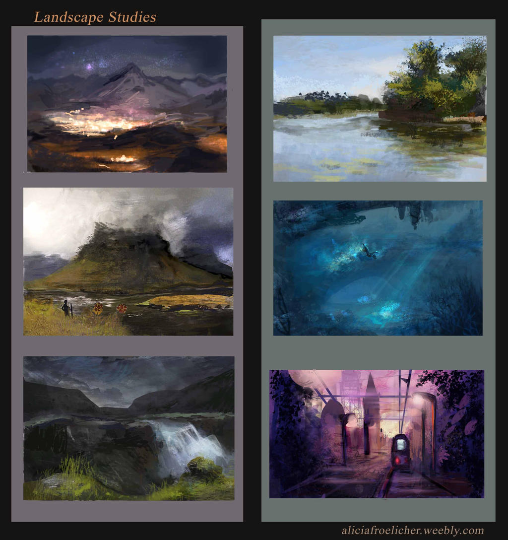Landscapes studies by AM-Nyeht