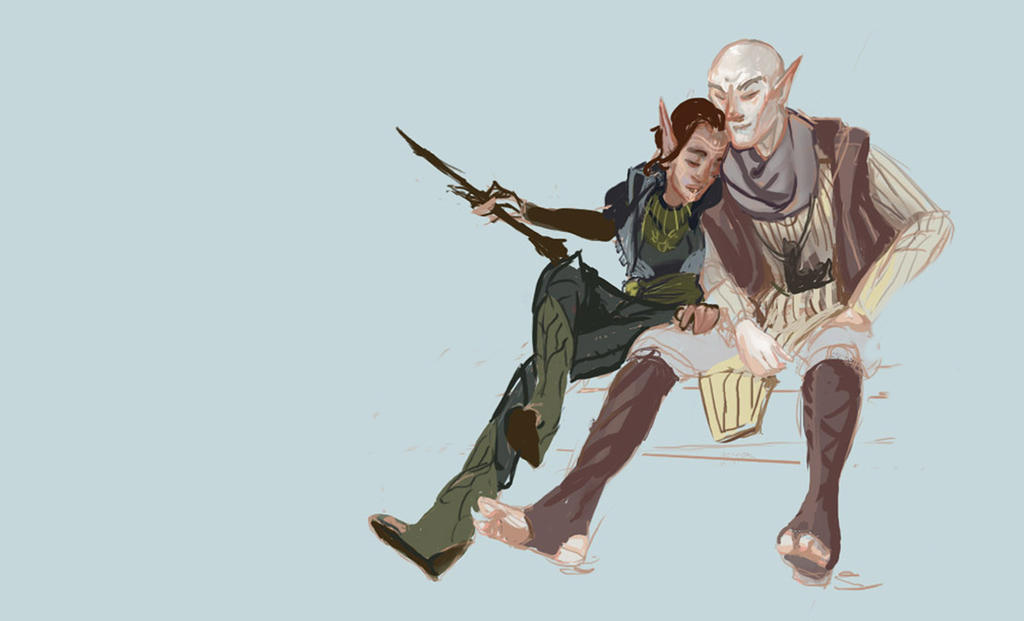 Solas And Levallan by AM-Nyeht