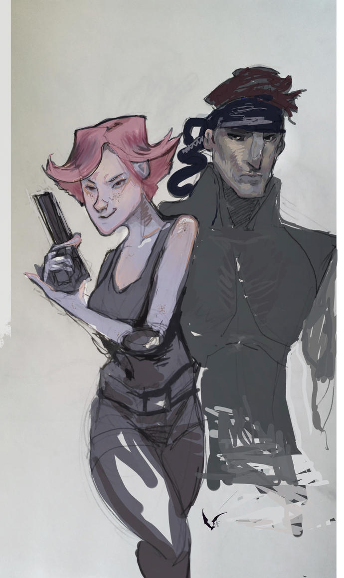 MGS: Meryl and Solid Snake by AM-Nyeht