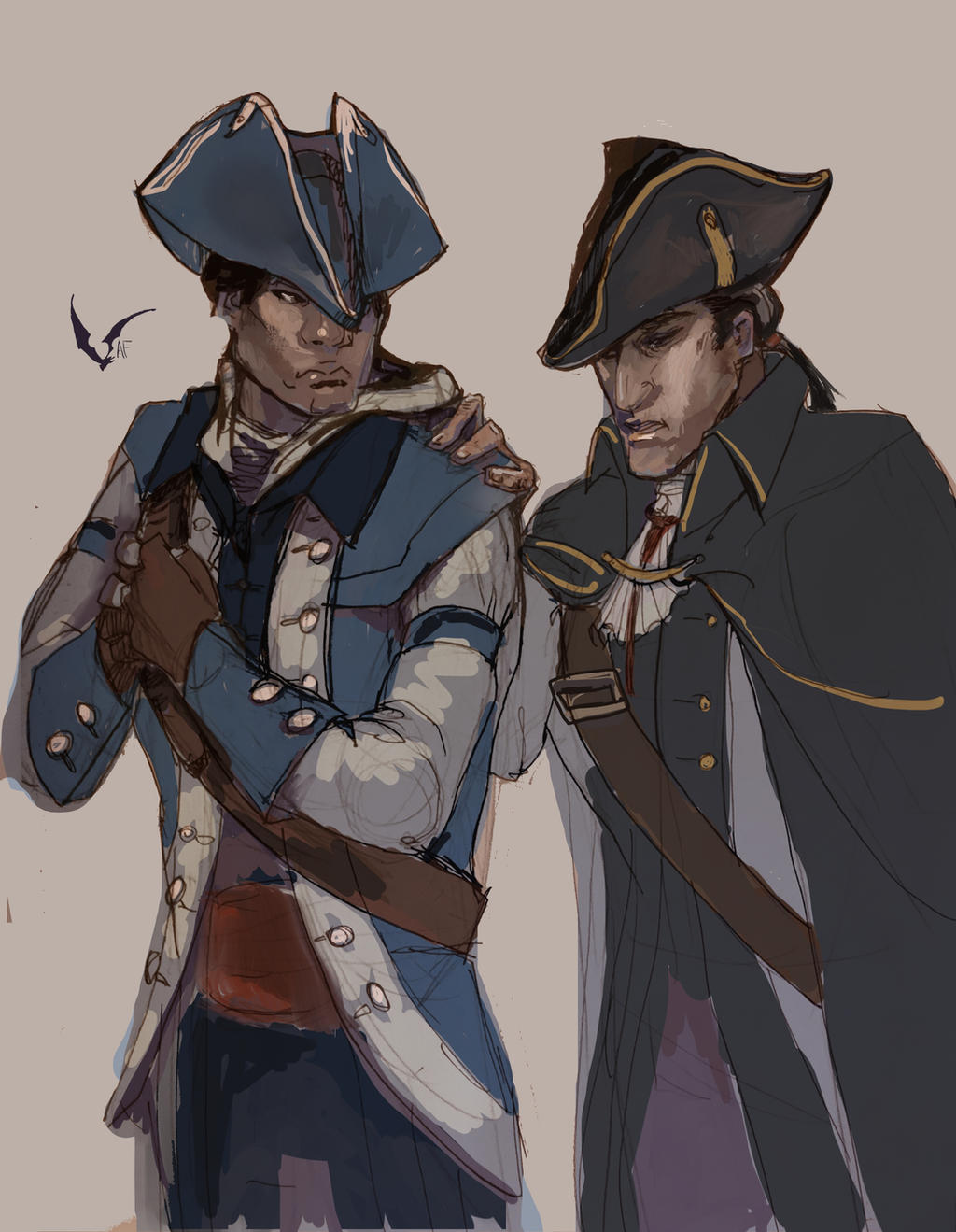 Connor and Haytham Kenway by AM-Nyeht