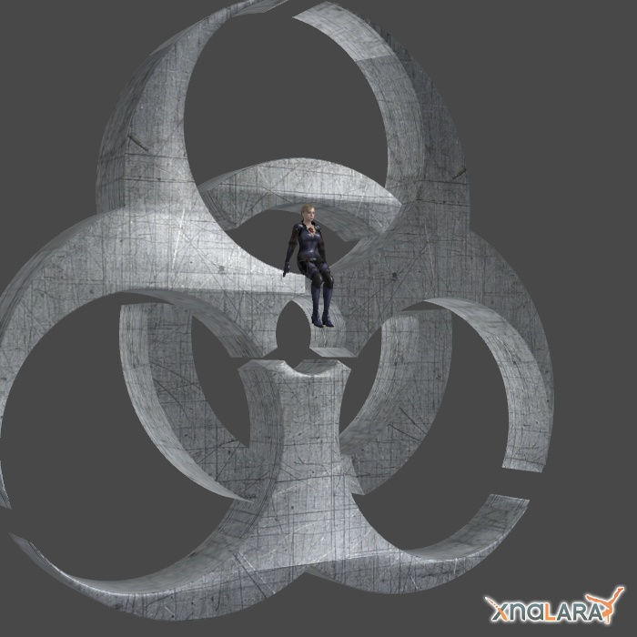 BIOHAZARD 3D LOGO by Oo-FiL-oO