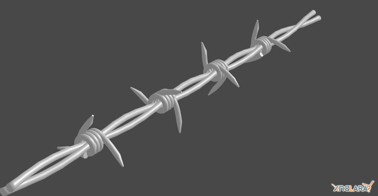 BARBED WIRE 3D MODEL by Oo-FiL-oO on DeviantArt