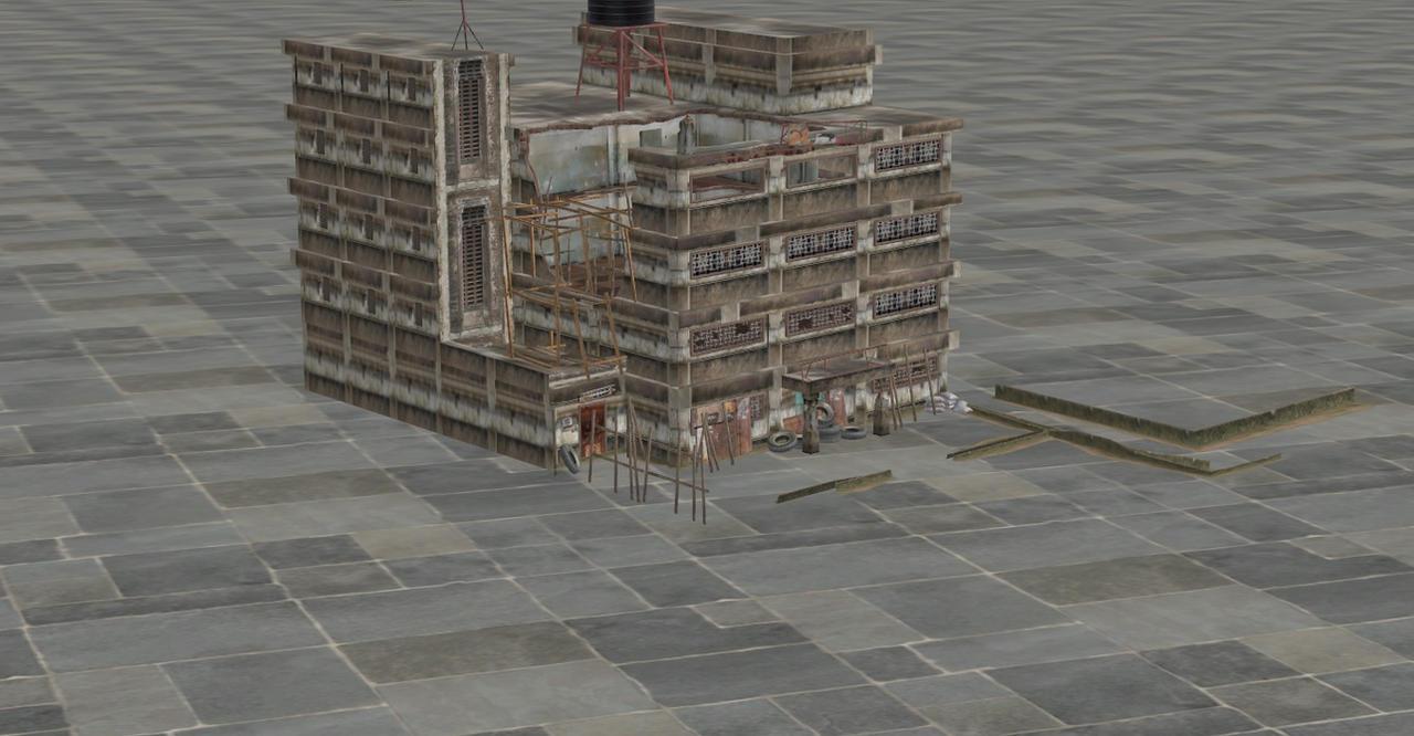 RESIDENT EVIL 5 BUILDING by Oo-FiL-oO
