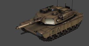 ABRAMS M1A1 TANK FULLY POSEABLE