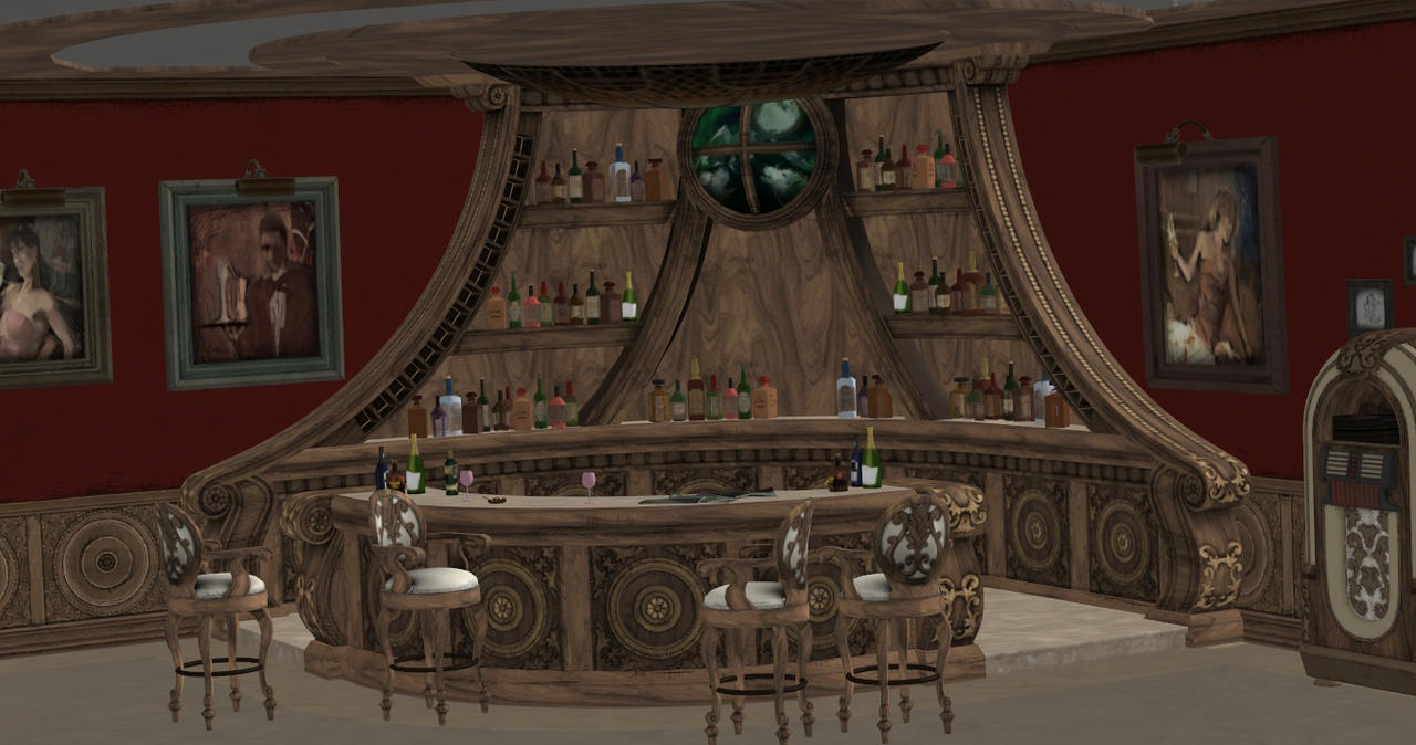 BAR AND LIBRARY by Oo-FiL-oO