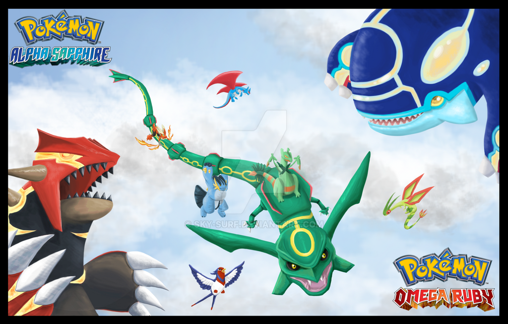 Pokemon Omega Ruby and Pokemon Alpha Sapphire by SkySurf