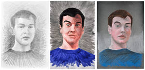 autoportret tryptyk by JasterM