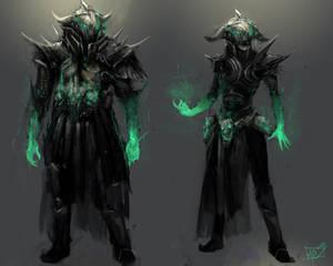 Male female knight concept