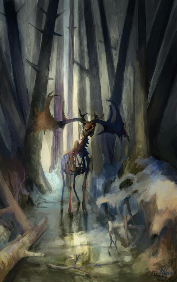 Winter is Coming. . . Death Deer by Cinnamon-Bluegard