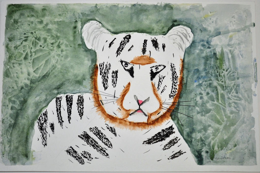 White Tiger (watercolor) by ChoujuX on DeviantArt