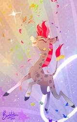 Jumpin' Giraffe by BombStaticz