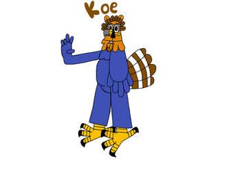 Koe the eagle with peace suit by ArtisticHokioi