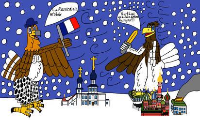 Two big eagles in Russia 1812 by ArtisticHokioi