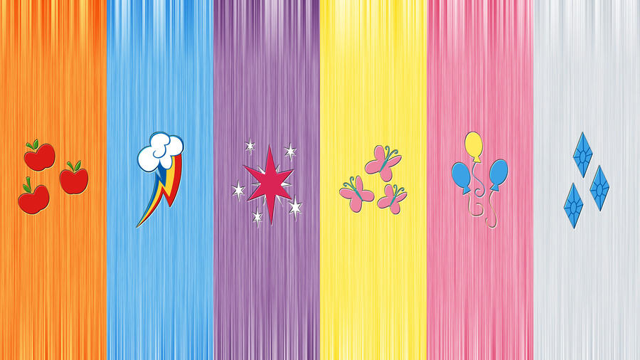 My little pony wallpaper 6 cutie marks by xx1simon1xx on - My little pony cutie mark wallpaper ...