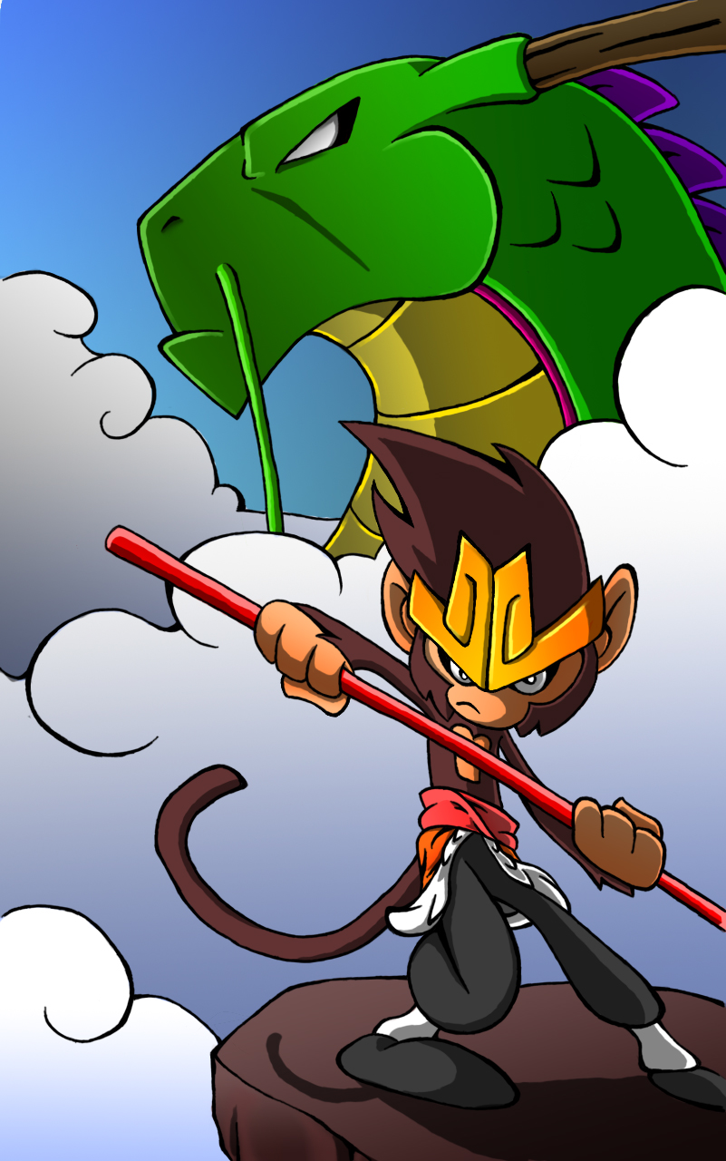 monkey king and dragon empeor by master funk 9000 on deviantart