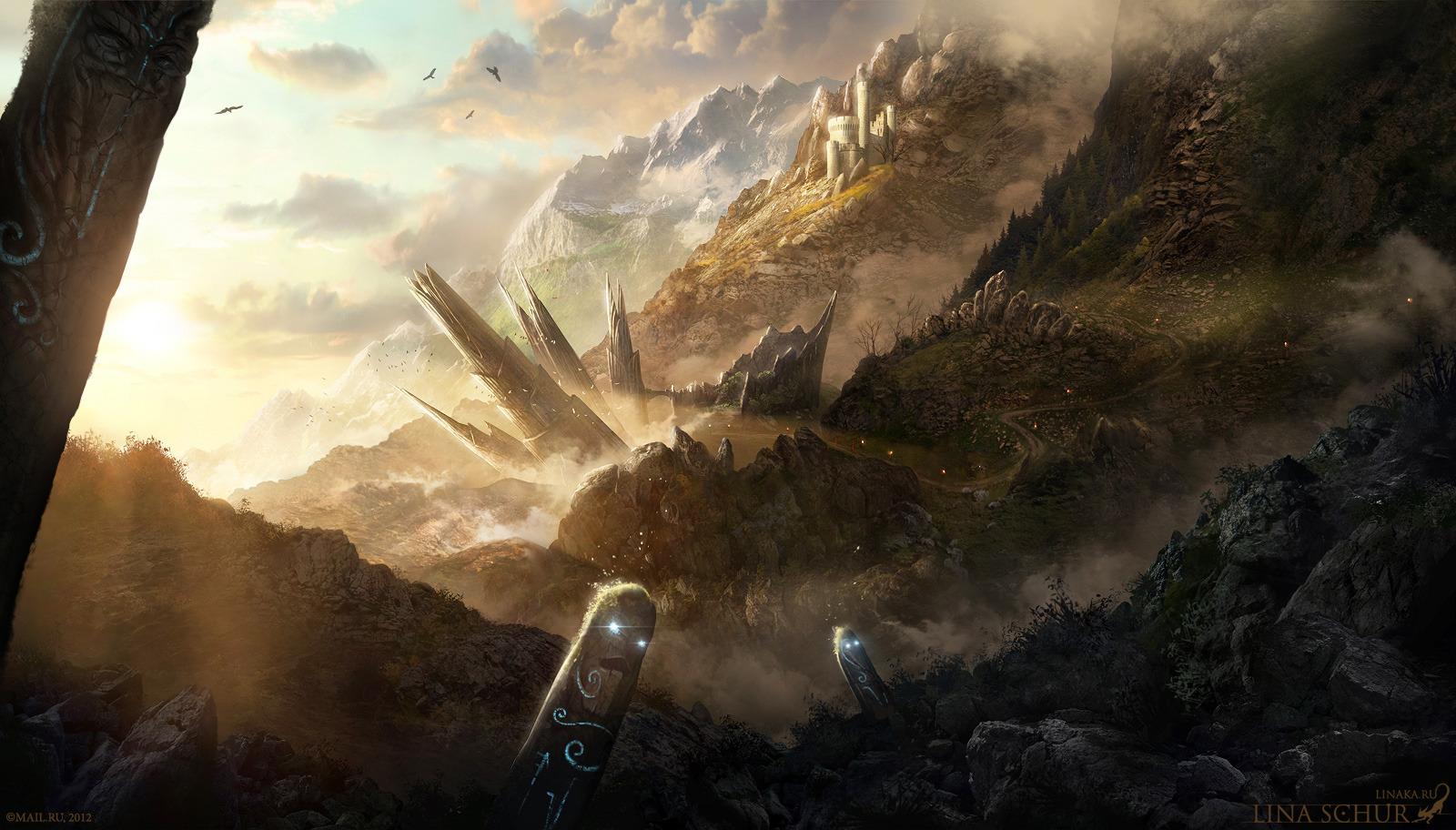 Totem landscape by Schur