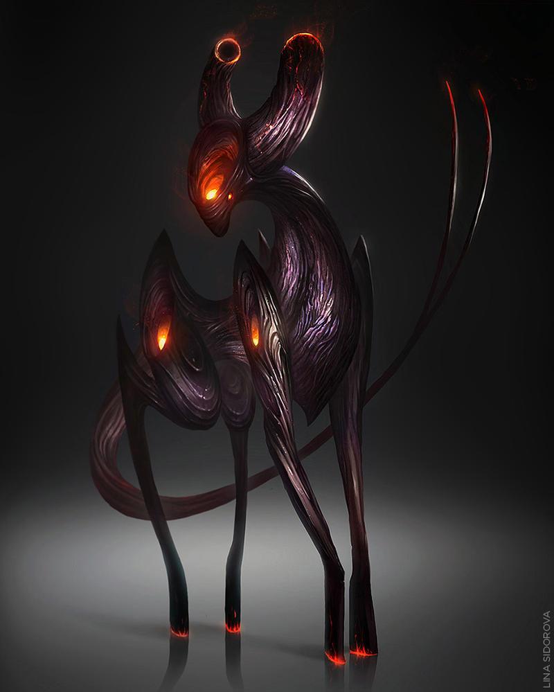 Horned creature by Schur