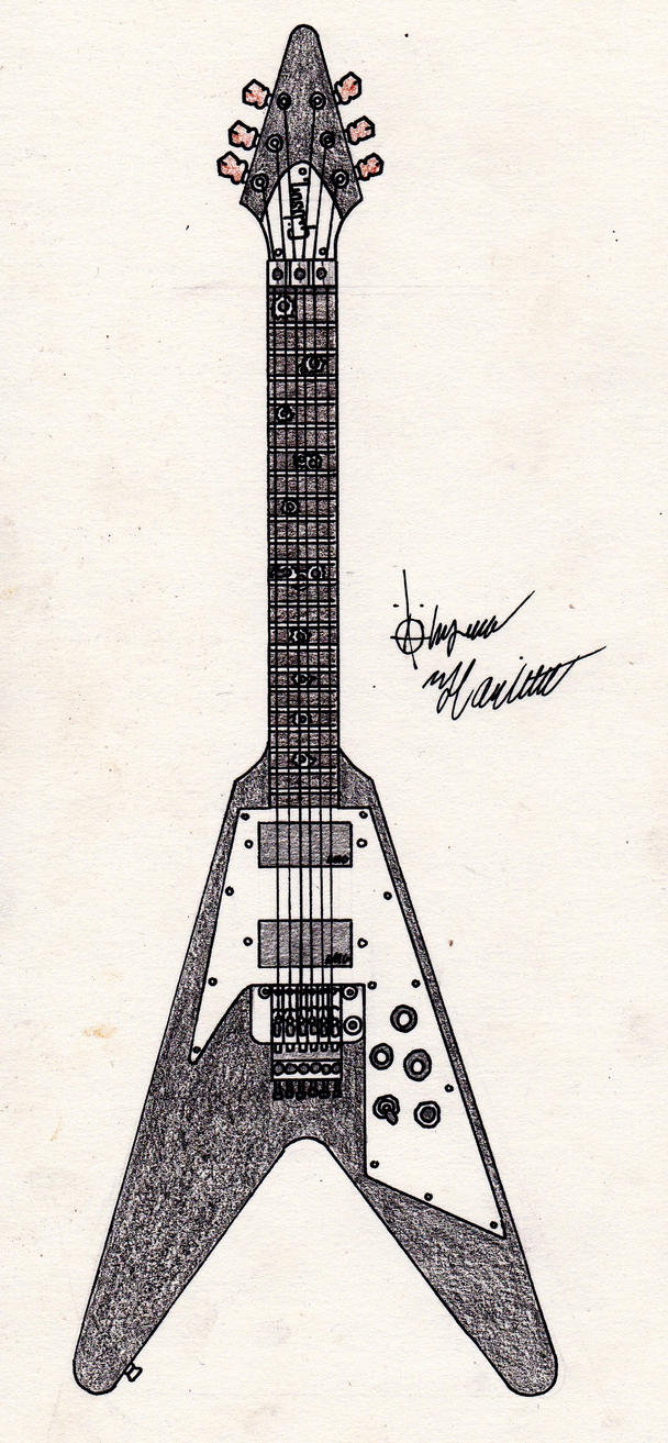 Gibson Flying V (Thrash Machine) by Soul-Armageddon