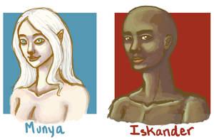 Munya and Iskander by Amnevitah