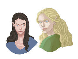 Lucy and Glorfindel by Amnevitah