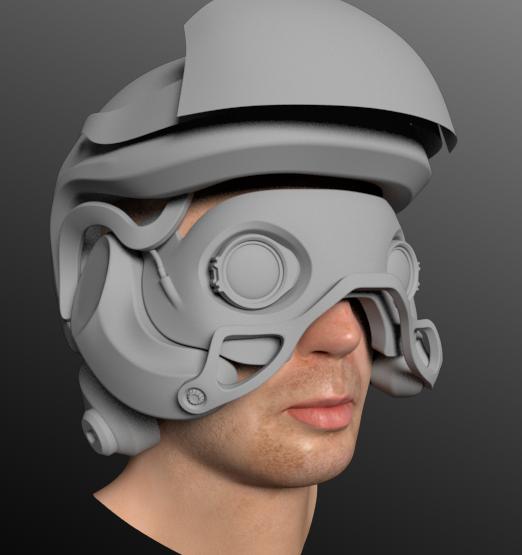 SciFi helmet-Wip by timyvonstabs