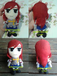 Erza Scarlet Fairy Tail Plushie by greennnpandacraft