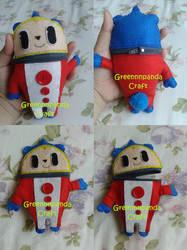 Teddie Persona 4 Plushie by greennnpandacraft