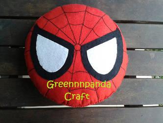 Spiderman Head Plushie by greennnpandacraft