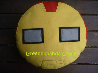 Iron Man Head Plushie by greennnpandacraft