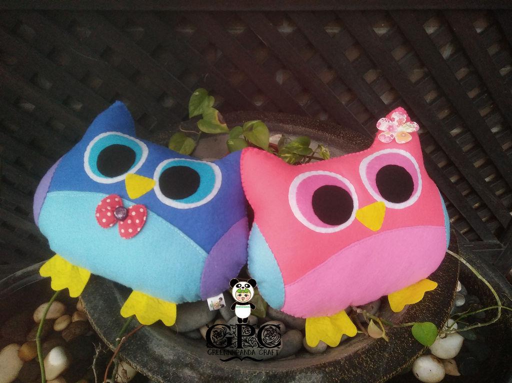 Medium Owl Plushie by greennnpandacraft