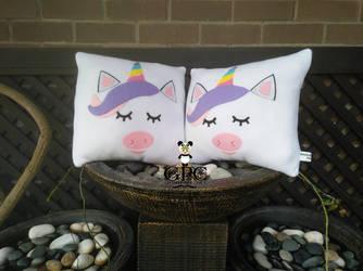 Unicorn Pillow (w nose) 2 by greennnpandacraft