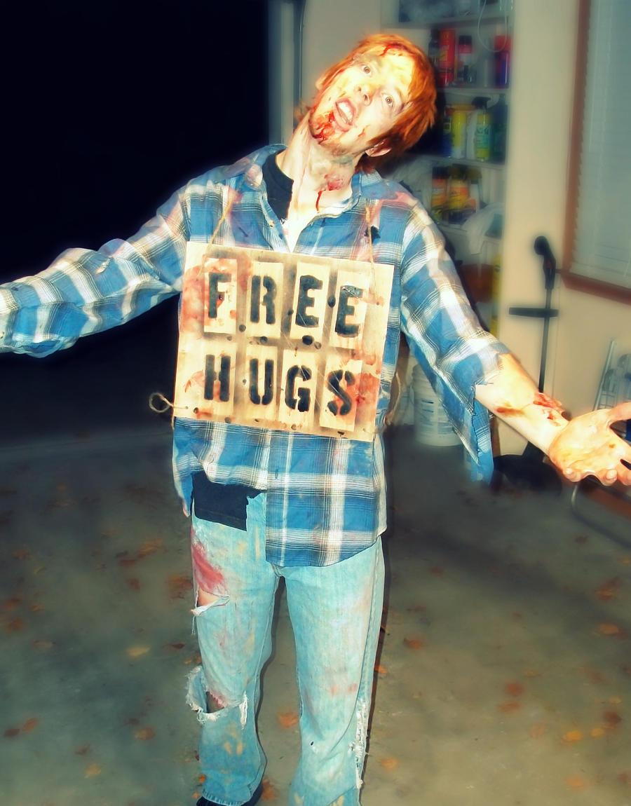 FREE HUGS Zombie by tuckerkakashi