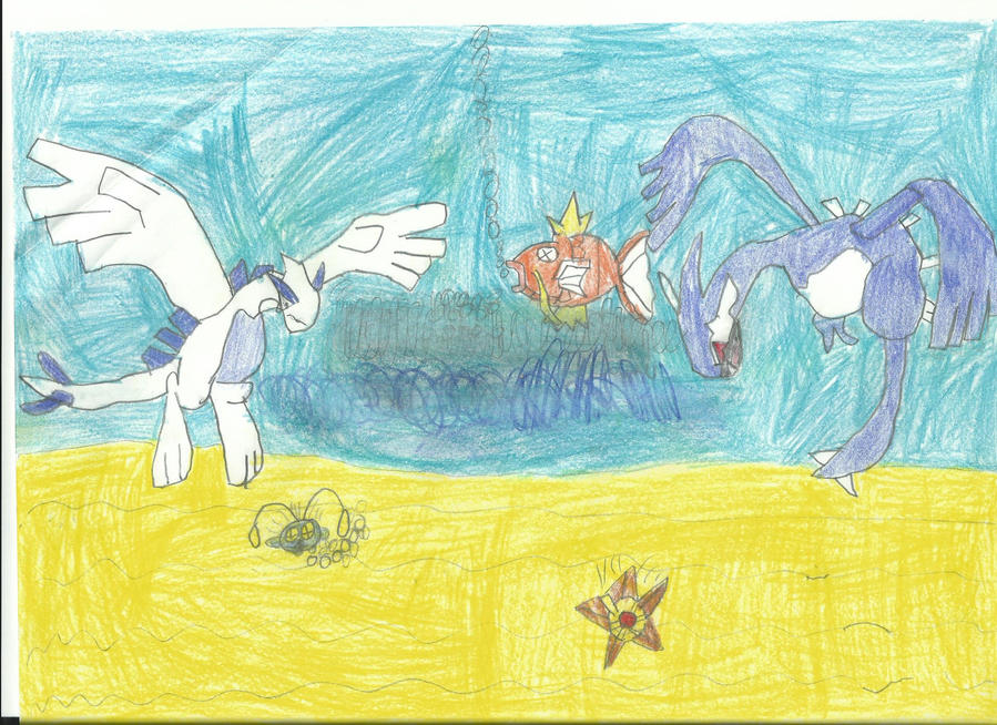 Lugia Duel at the Seafloor! by kevin190499