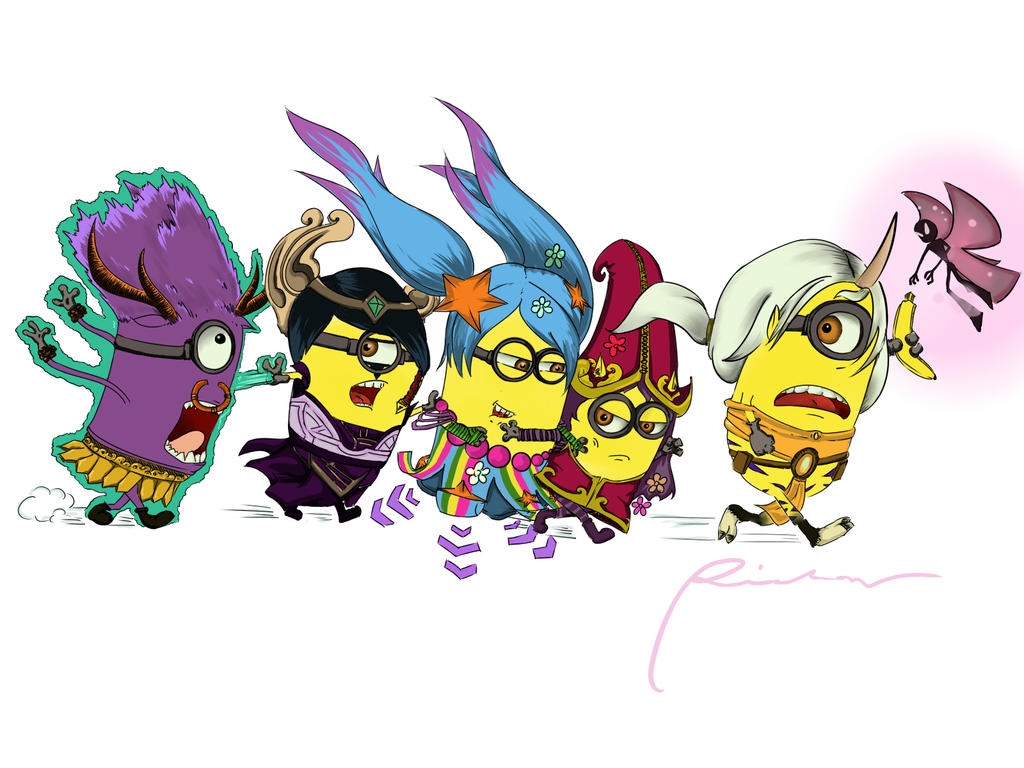 Minions as League of Legends Support :3 by Amiti-seiL on