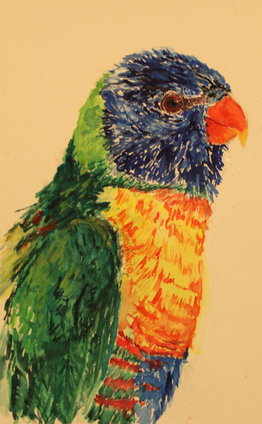 Mr. Rainbow feathers by ezliribs-apprentice