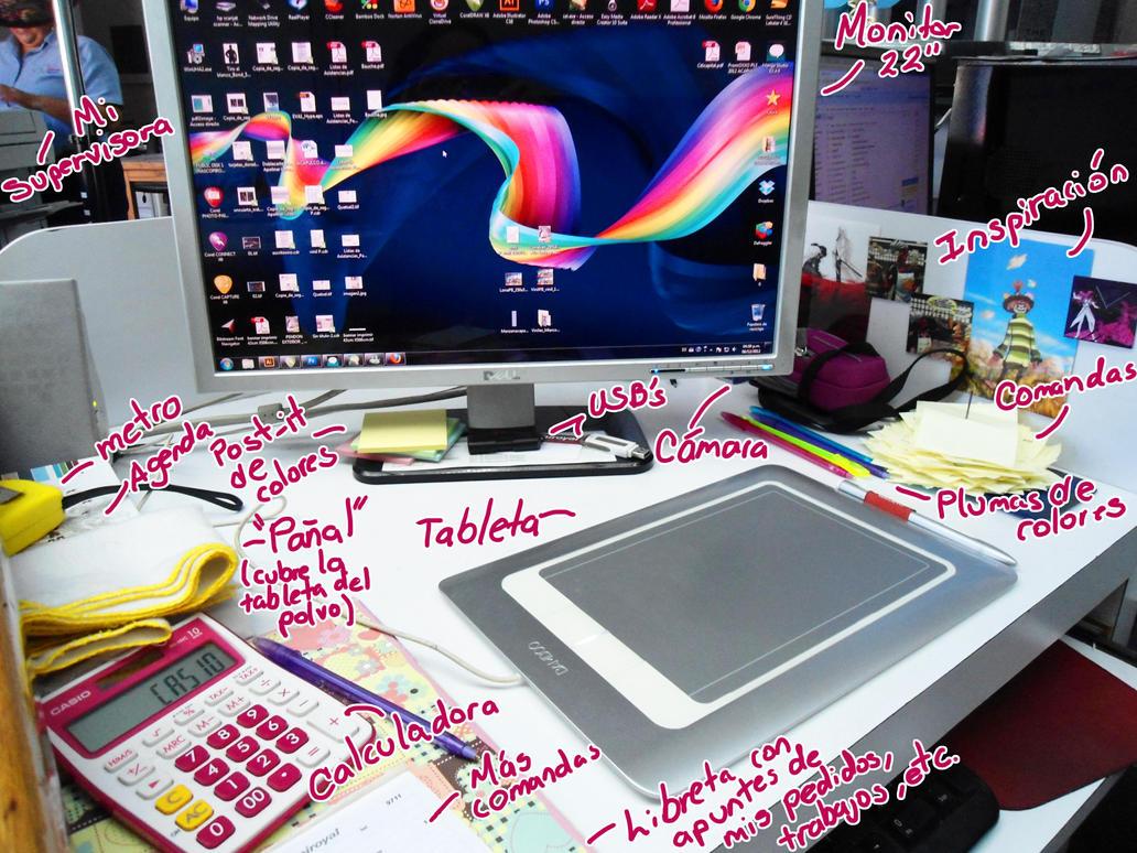 Mi estacion de trabajo by kitsune megamisama on deviantart for Estacion de trabajo