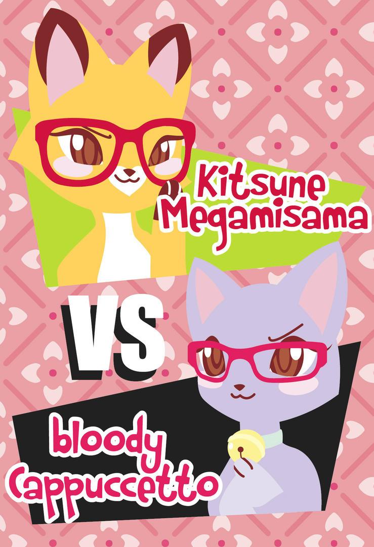 Glasses Foxy VS Glasses Kitty by Kitsune-Megamisama