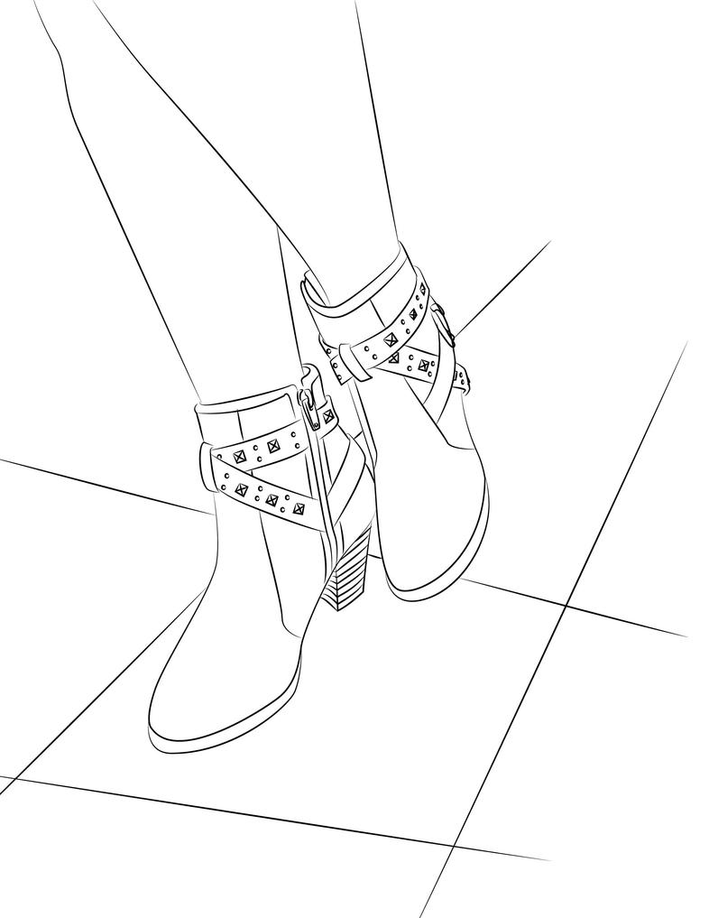 Lovely Boots Lineart by Kitsune-Megamisama